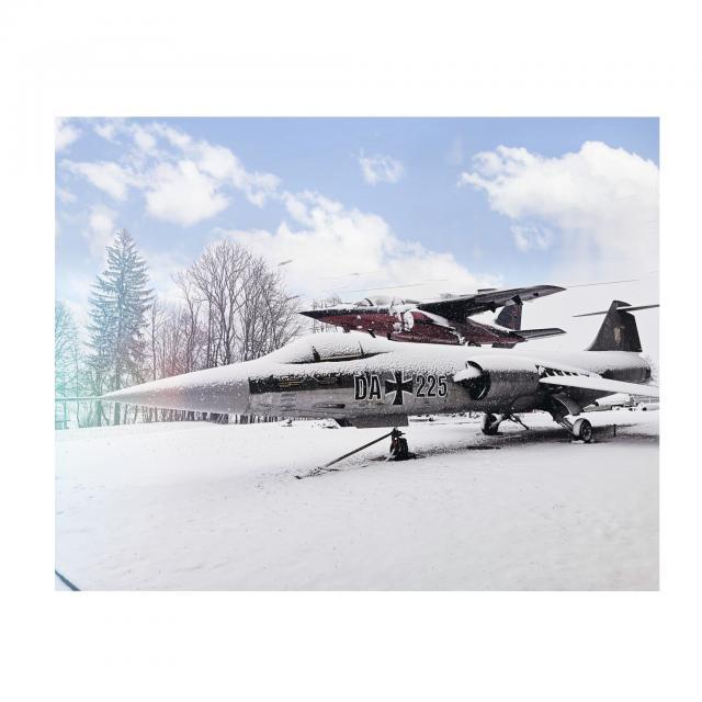 Starfighter Lockheed F-104 im Schnee