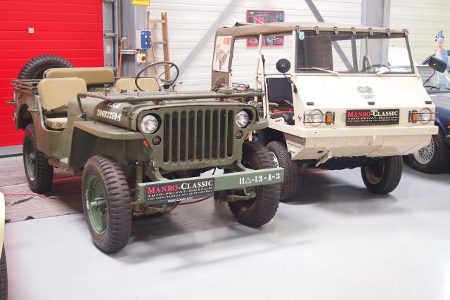 Willys Jeep MB mit Puch Haflinger